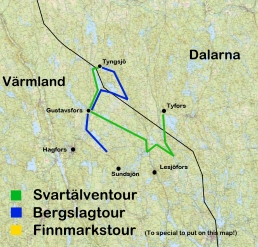 map canoe trips sweden